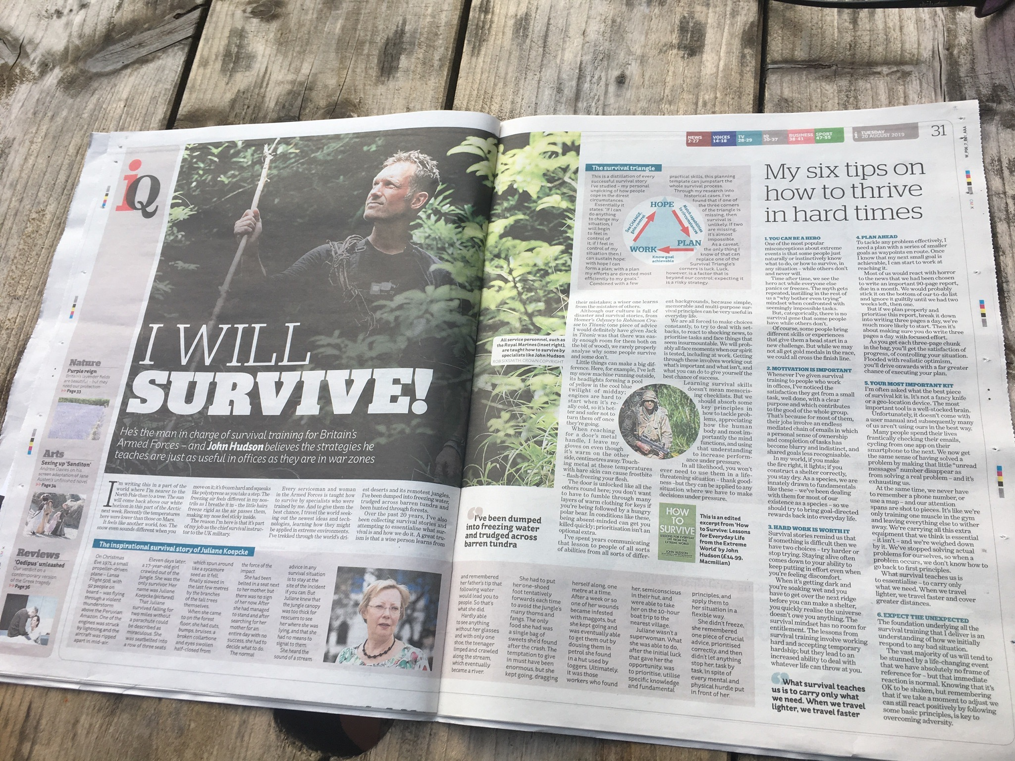 i NEWSPAPER - SYNOPSIS OF 'HOW TO SURVIVE'