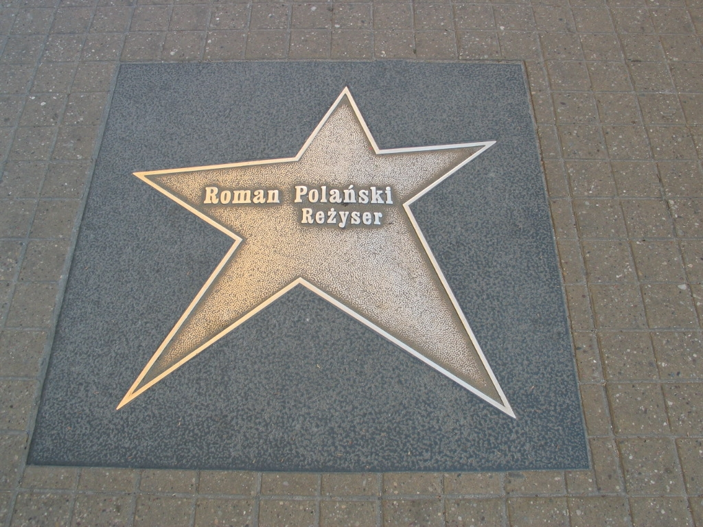 Roman Polanskis stjärna påŁódźwalk of fame.