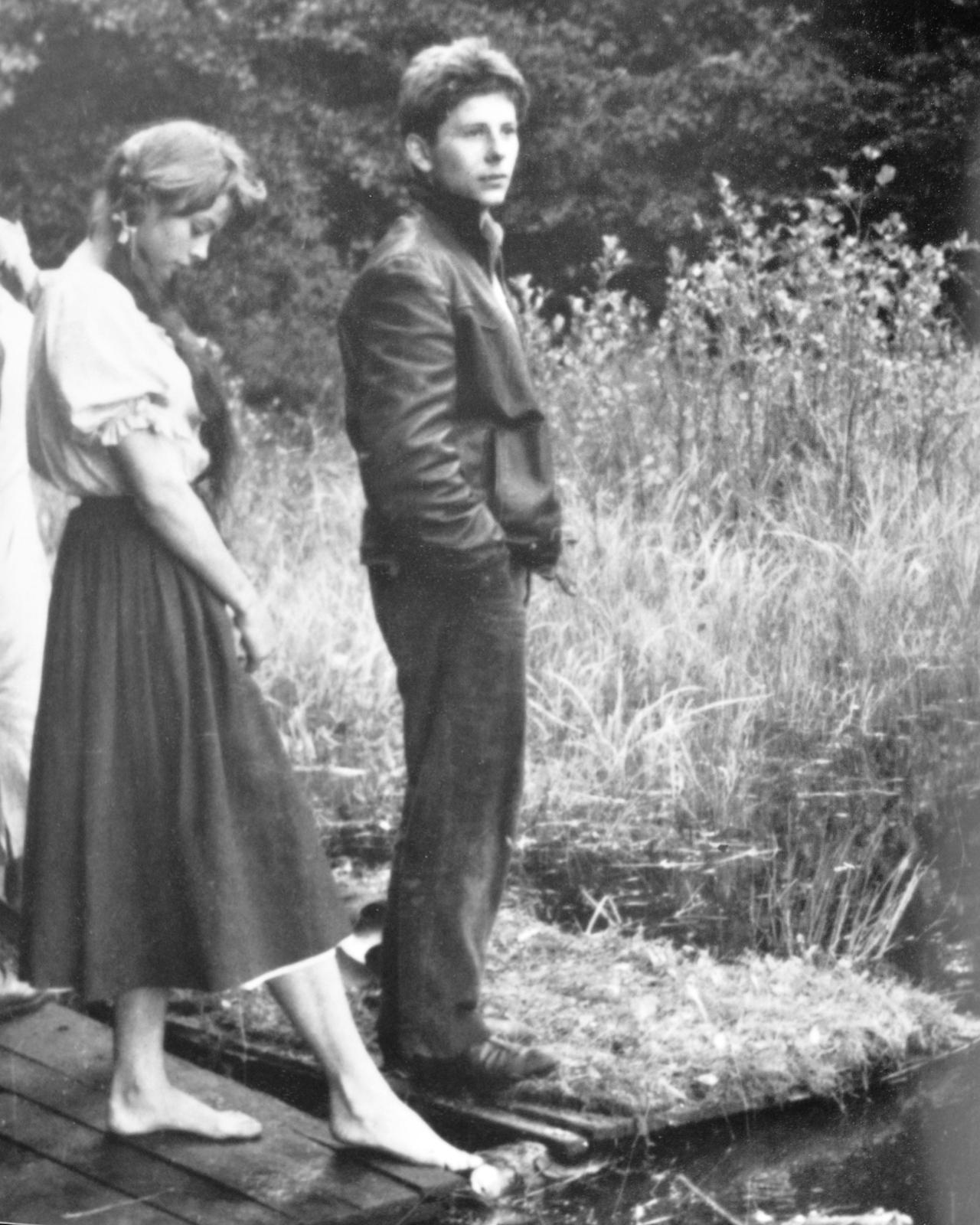 Paret Barbara Lass (Kwiatkowska) och Roman Polanski under inspelningen av  When Angels Fall .