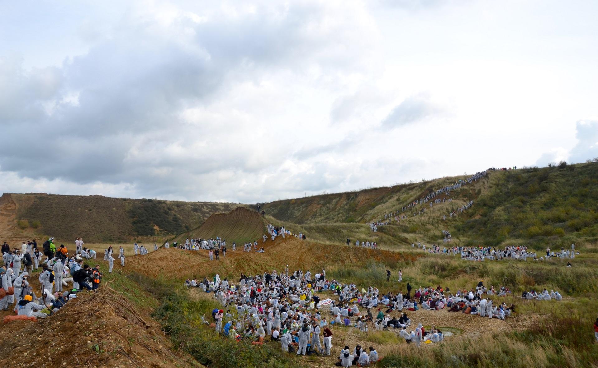 Klimataktionen Ende Gelände.  Foto: Line Skov