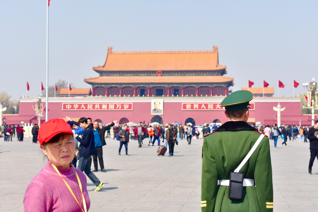 Himmelska fridens torg i Peking. Foto: Alexandra Andersson