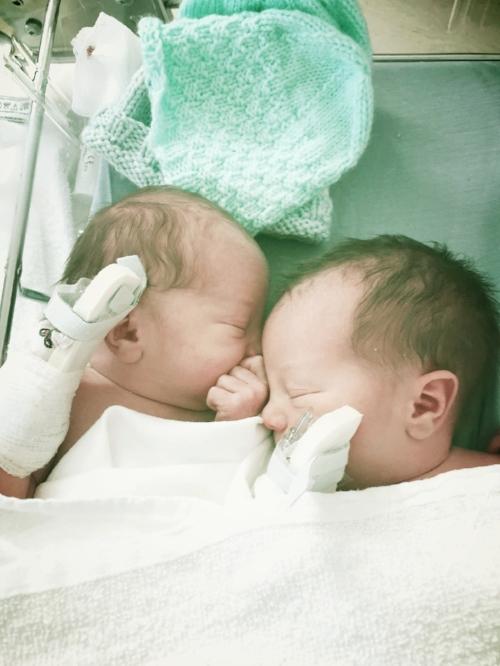 tiny babies with tiny IVs