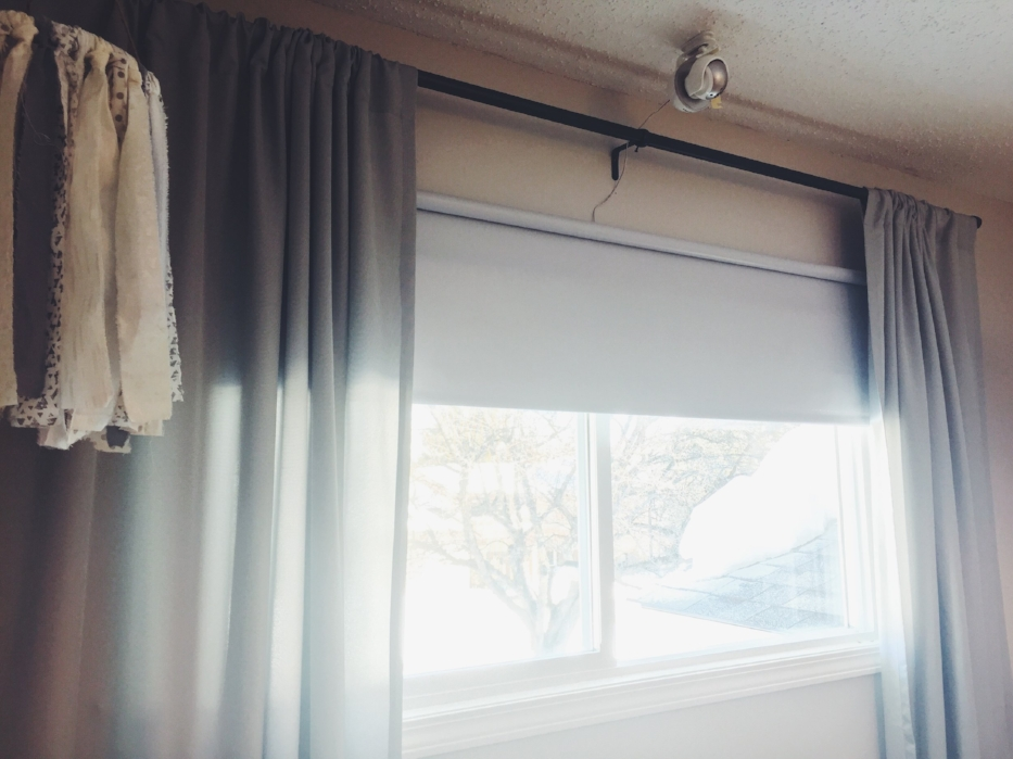 Curtains  |  Curtain Rod + Blackout Blind  |  Baby Monitor