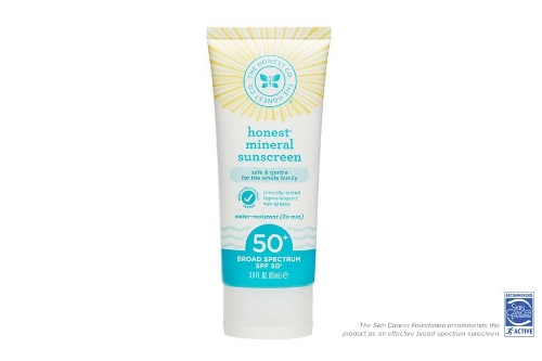 The Honest Co. sunscreen that we're currently using on the boys