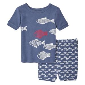 We have this fish print pair from Joe Fresh!