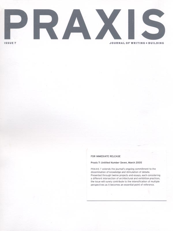 Architecture by Numbers - Praxis, 2005