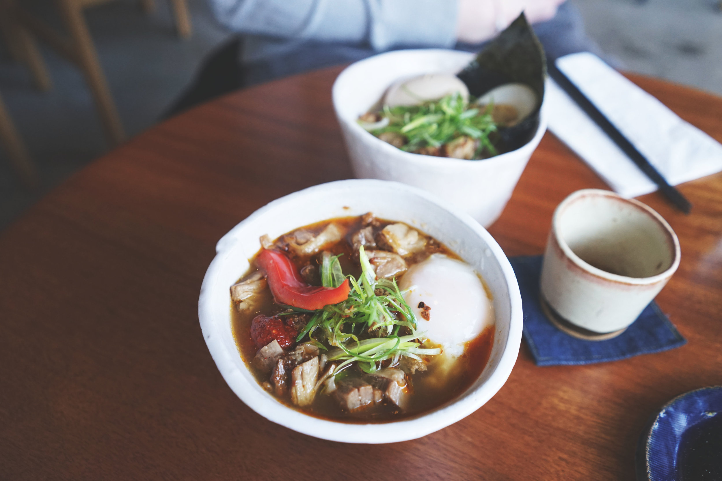 The small, spicy miso ramen, guaranteed to make your pores sweat and cry out in happiness.