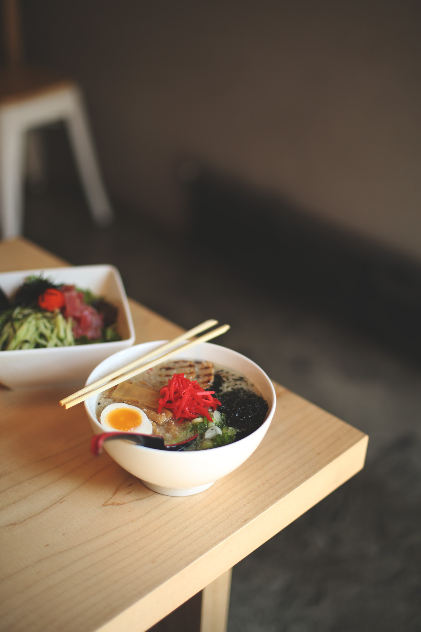 Their special ramen of the day was the Astorian BBQ and we were drowning in flavor.
