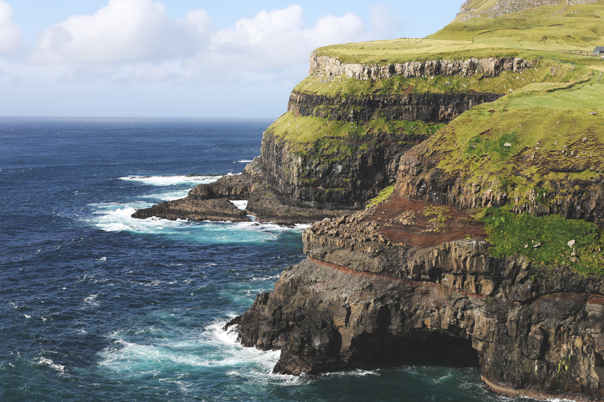 The cliffs along the village of Gasadular that will take your breath away.