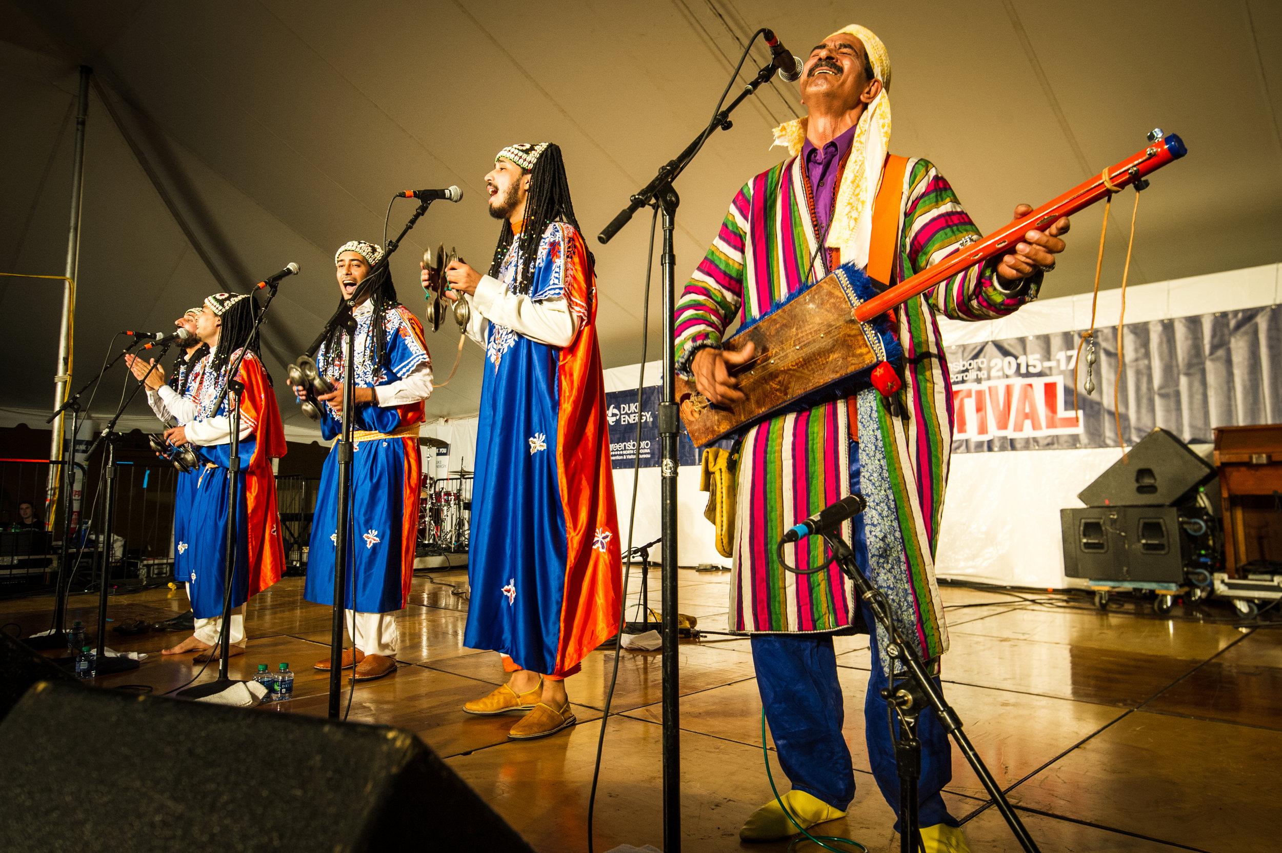 The Brooklyn, New York-based Innov Gnawa performs Moroccan trance music. Photo: Edwin Remsberg