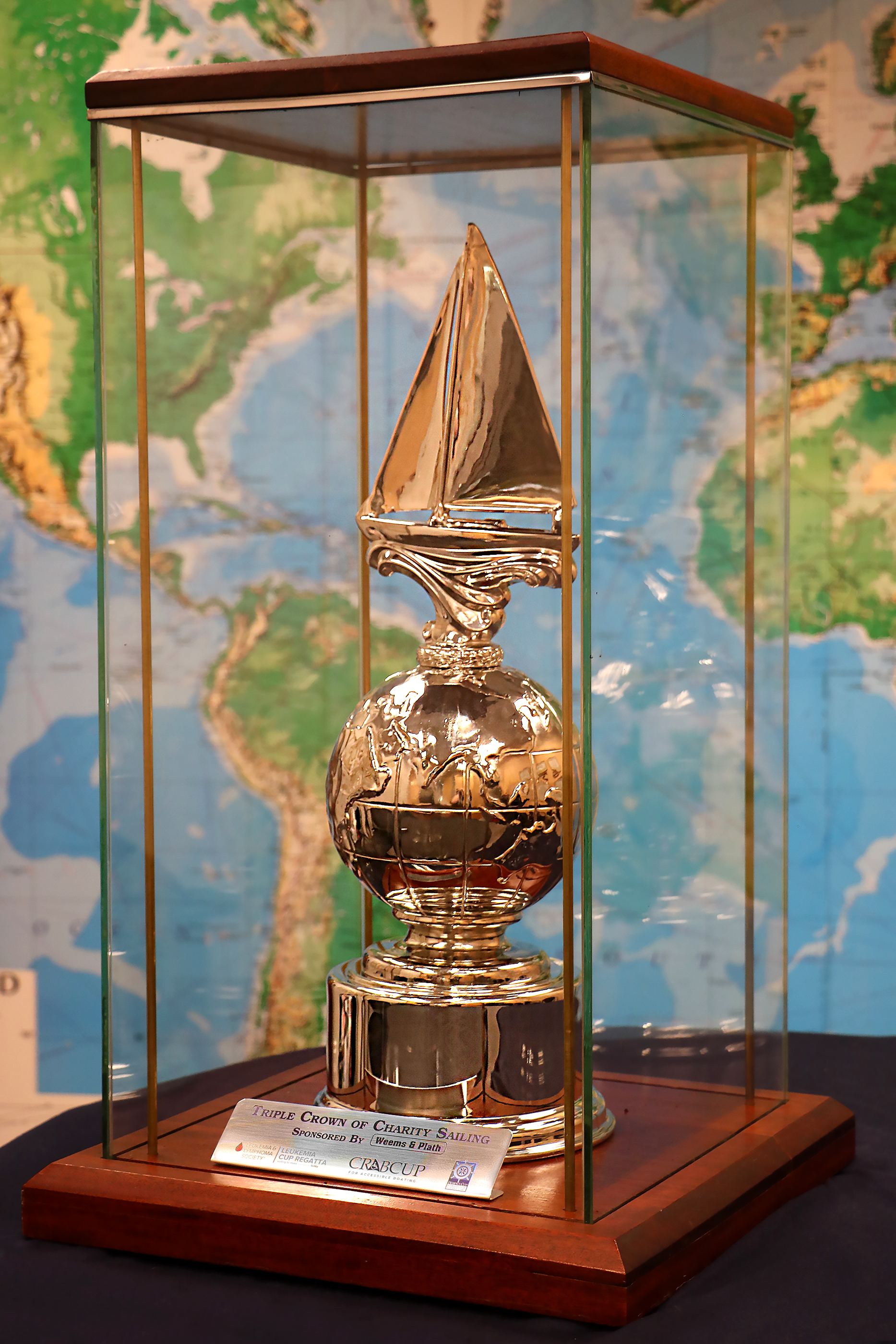 The Triple Crown of Charity Sailing Trophy from Weems & Plath