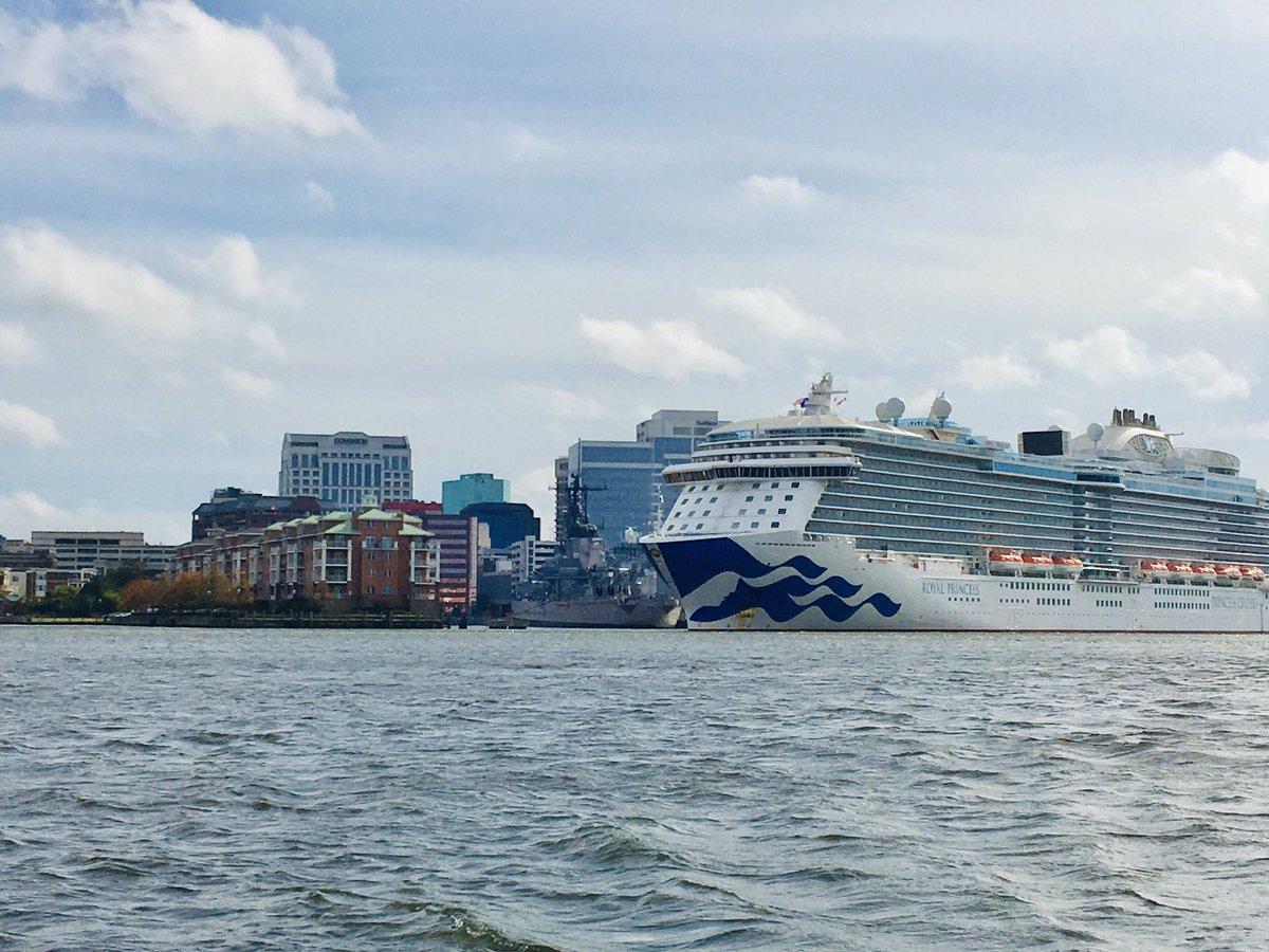 Carnival's Royal Princess cruise ship docked in Norfolk. Photo: City of Norfolk/ Twitter
