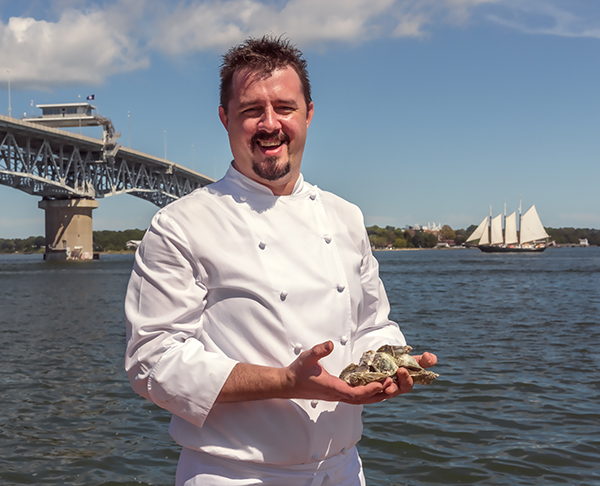 Riverwalk Restaurant Executive Chef Brian Hines. Riverwalk is the first stop on Thursday evening's Yorktown Tapas Crawl.