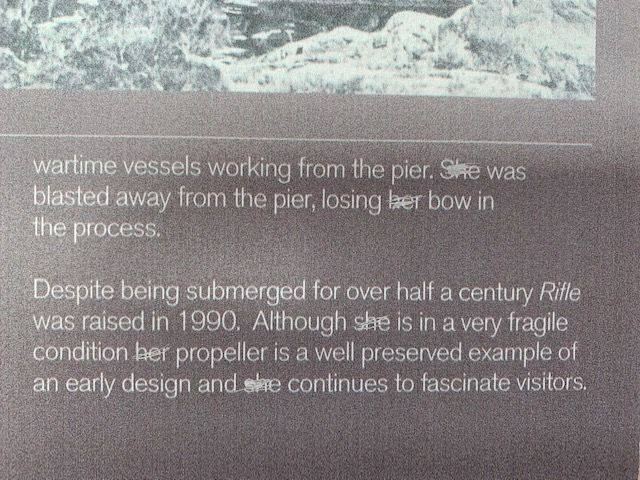 The Scottish Maritime Museum posted photos on Facebook of the acts of vandalism by an offended museum visitor.