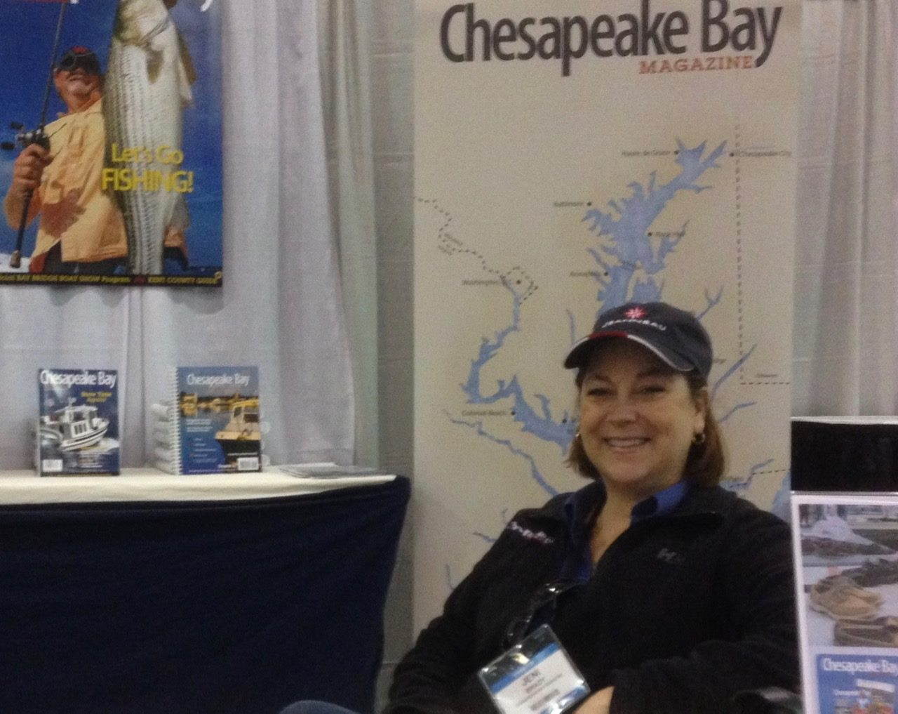 Jeni at the Atlantic City Boat Show. Photo courtesy of John Stefancik