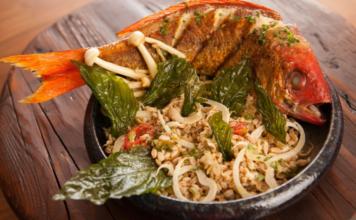 One of Alewife's impressive fish dishes, earning it a spot on  GQ' s Top 20 New Restaurants list.