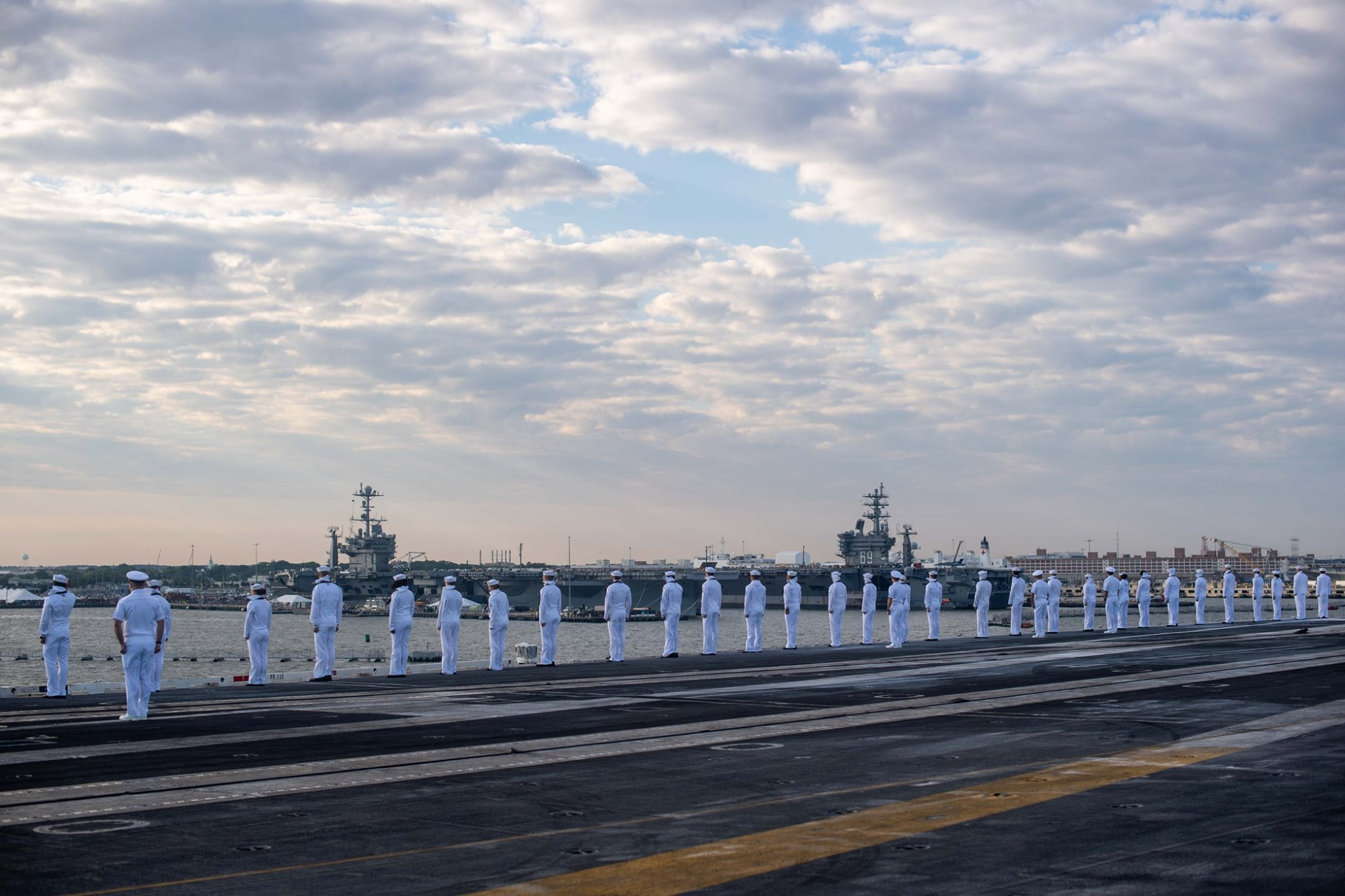 Aircraft Carrier Arrives at New Homeport of Norfolk