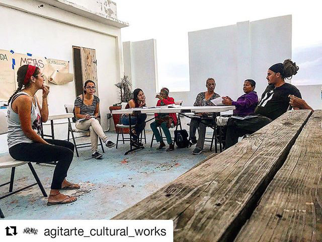 During Gabriela's residency at AgitArte in Puerto Rico