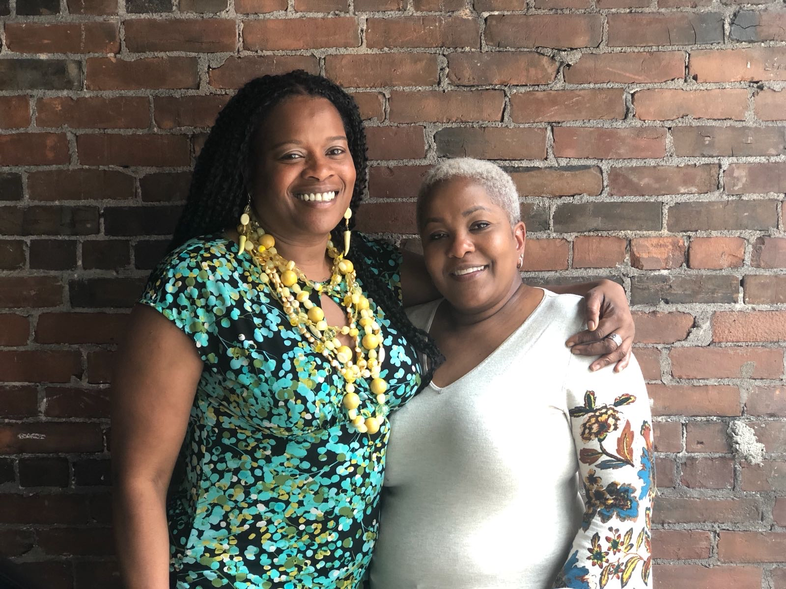 Nadine Nelson of  Global Local Gourmet  and Kay Holness of The New Haven  Caribbean Heritage Festival  and The  Jamaican American Connection .