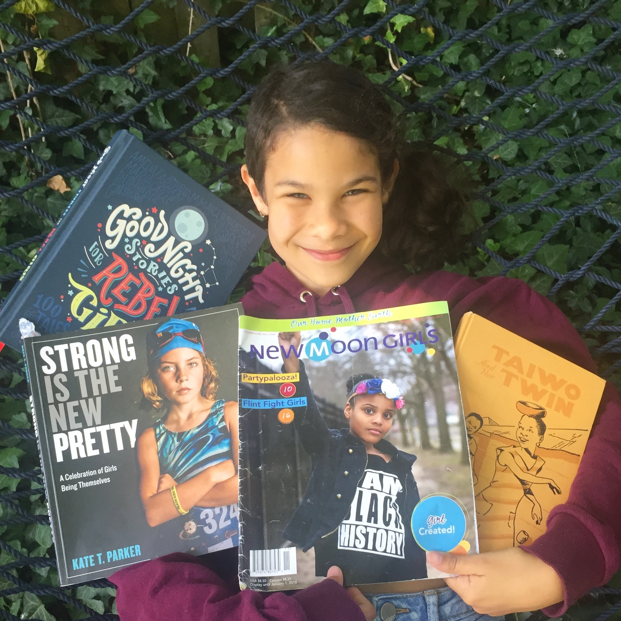 "10 year old guest Tomitsela Engel-Halfkenny, daughter of host Tagan Engel, shares some of her favorite ""girl power books"" and how they have impacted her life and feelings about herself as a girl."