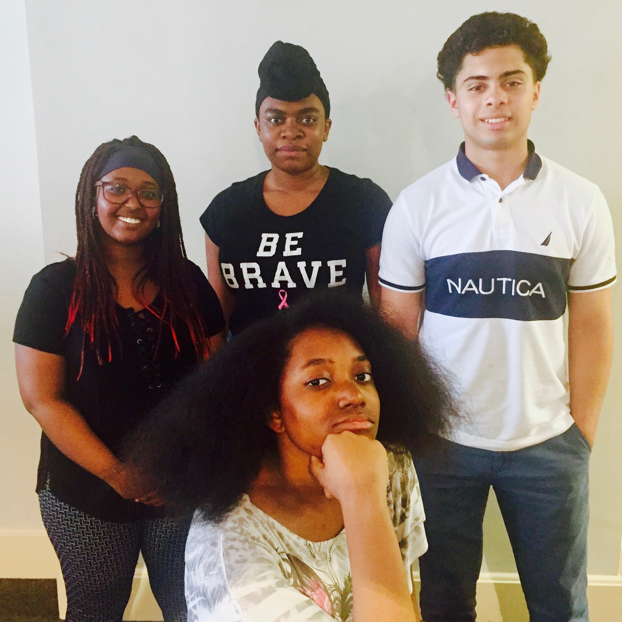 Clockwise from left: Briyanah, Benny, Sebastian, and Mia. Four New Haven, CT public school students involved with the group PREST: People for race and ethnicity studies.