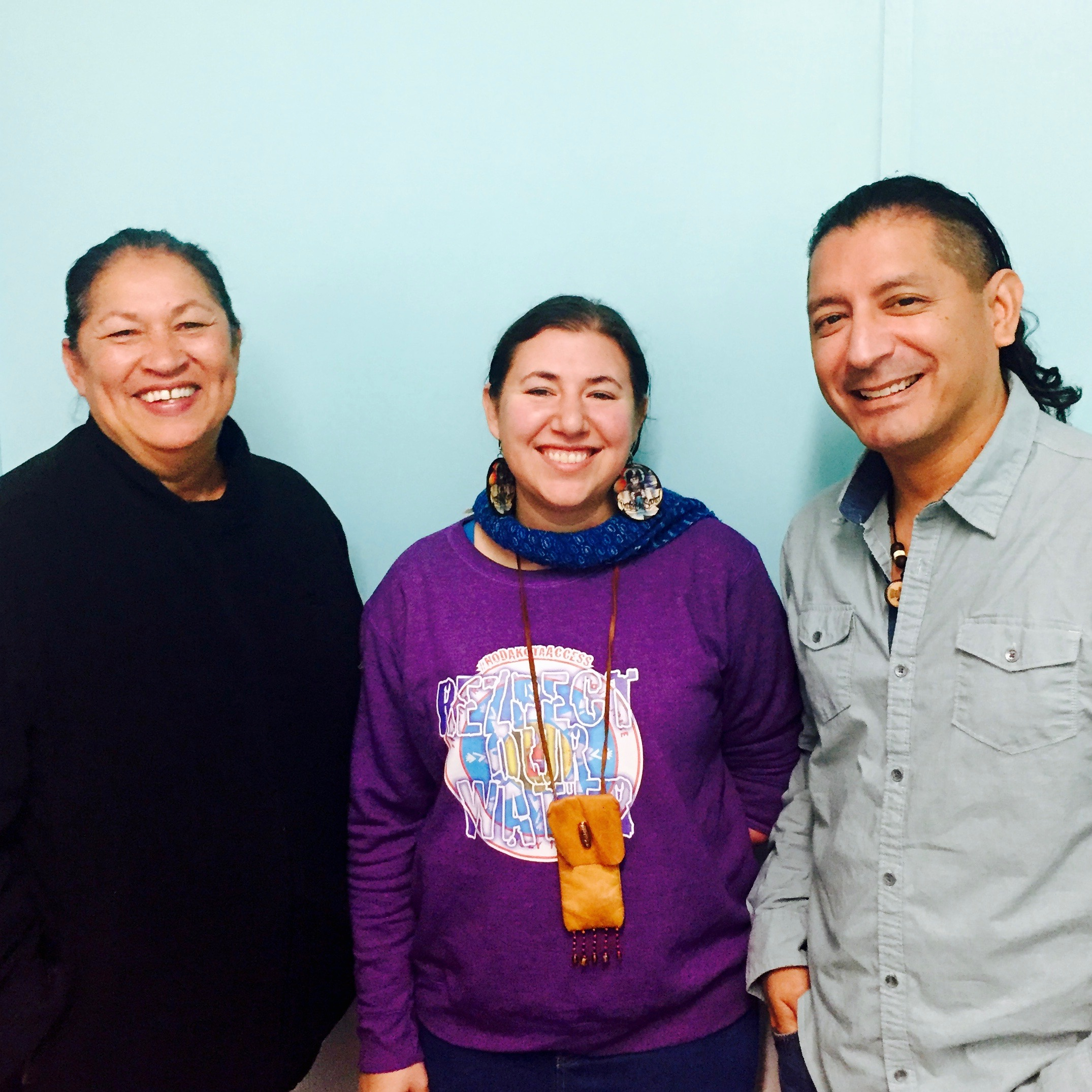 From left: Wampanoag Chef Sherry Pocknett, Mohegan Anthropologist Rachel Sayet and Jay Levy who is of indigenous Columbian heritage and works for the Mohegan Tribe. For this episode, these three educators speak to the true history of Thanksgiving, the intrinsic element of giving thanks in native cultures, indigenous foods and how handle the Thanksgiving holiday each year.