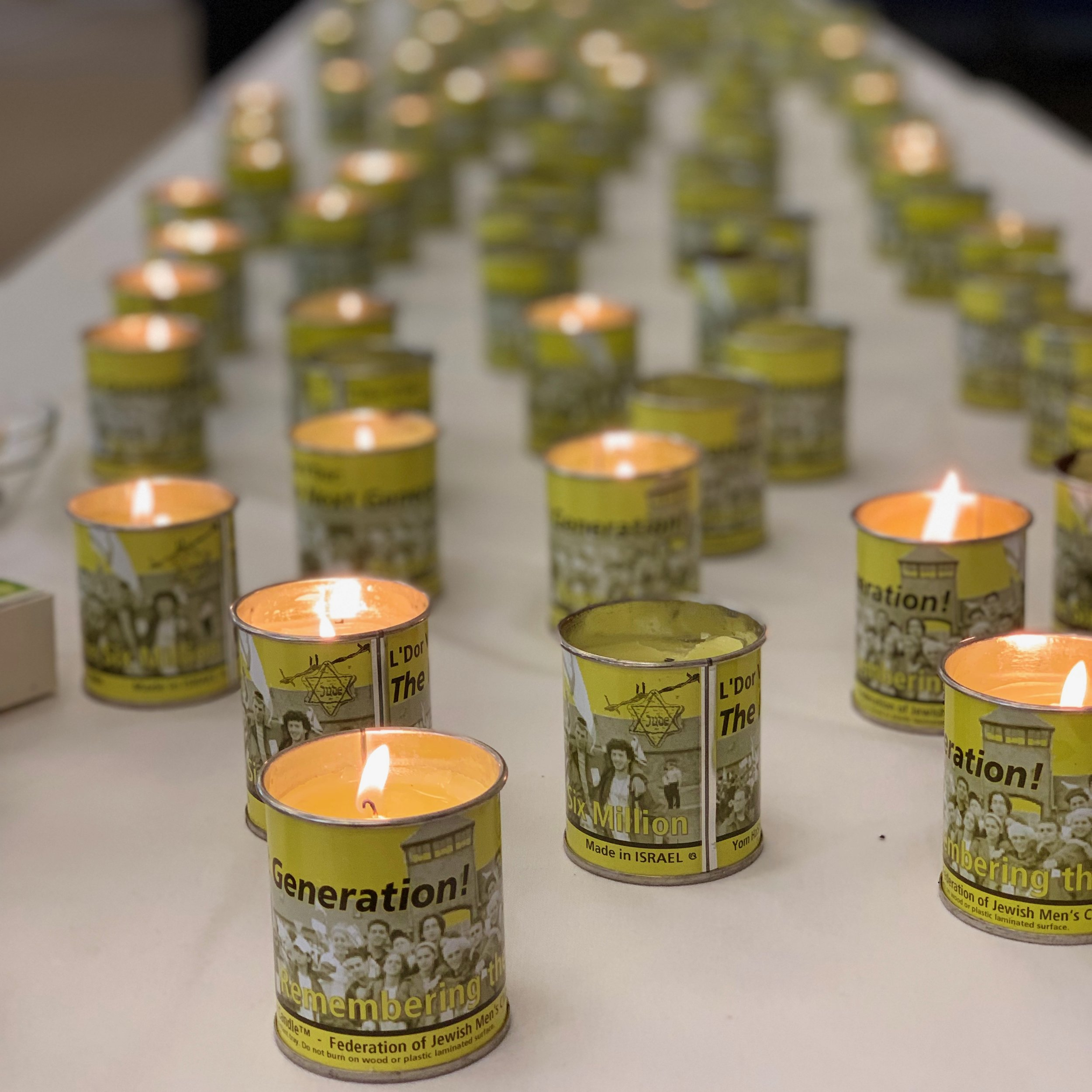 """The Next Generation"" Remembrance candles lit on Yom HaShoah, Holocaust Remembrance Day. How does the remembering of genocide by each generation inform our actions, not only for Jews, but for all people?"