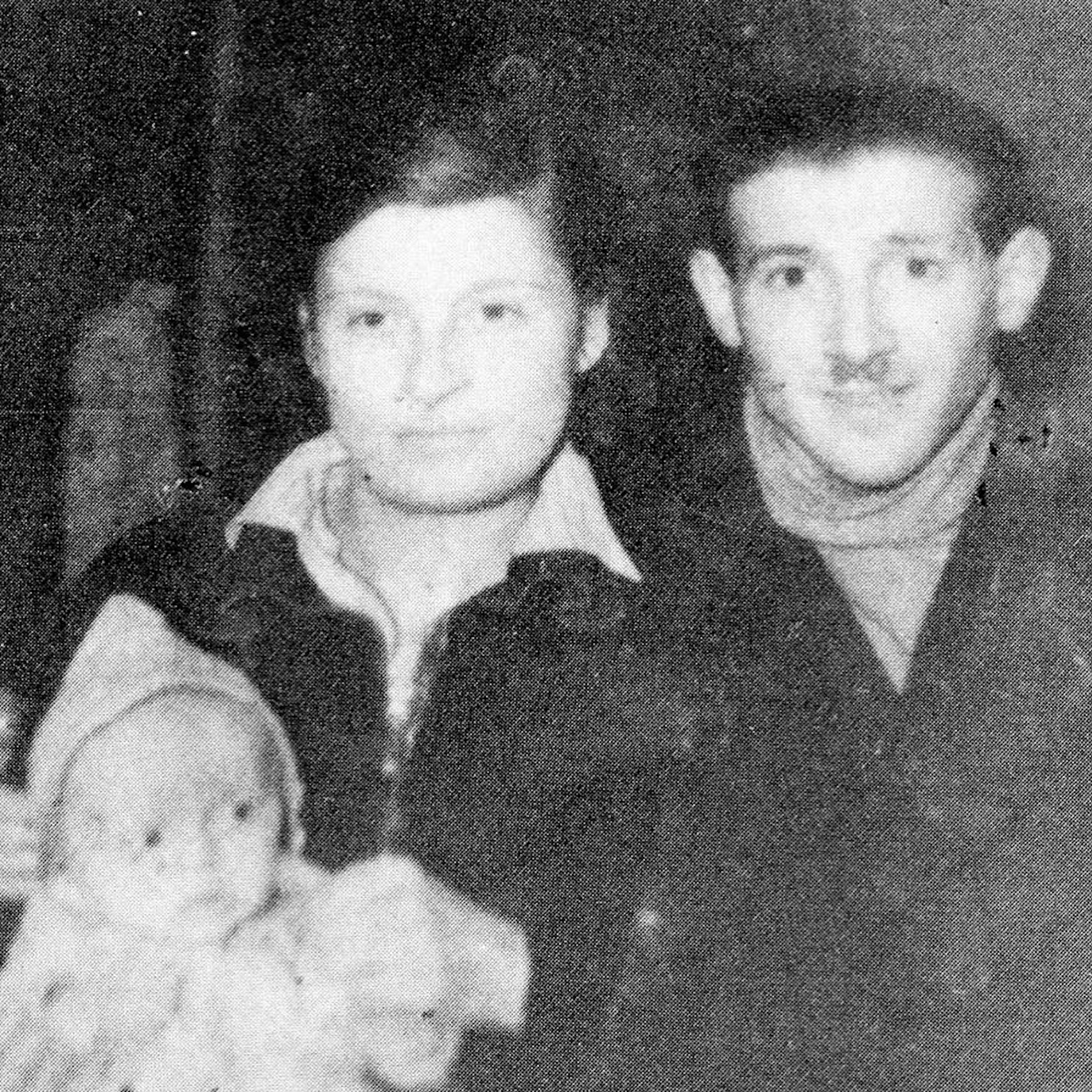 Selma Wynberg Engel, Chaim Engel, and their first child Emilje, conceived in hiding after their escape from the Nazi Death Camp Sobibor. Emilje died shortly after he was born, during their difficult journey to freedom.