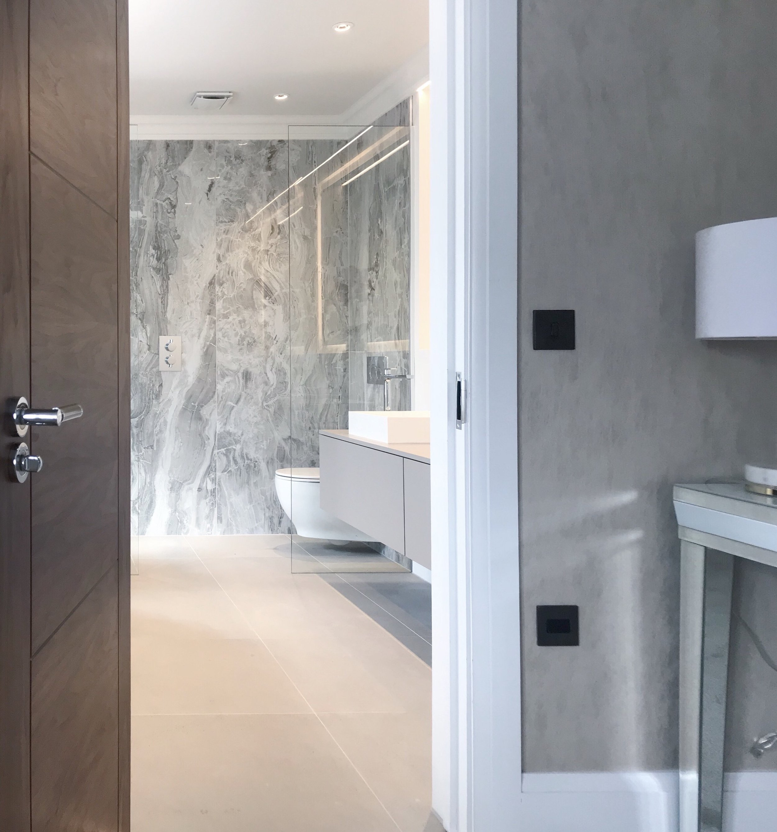 Tiles featured: REX Grey Marble