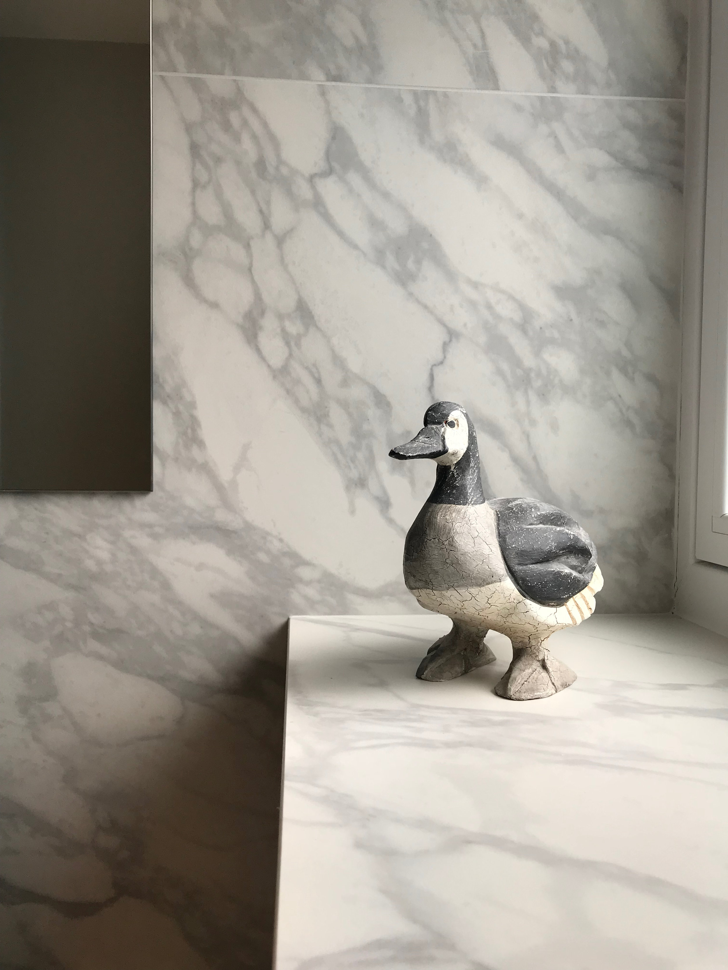 Porcelain tile fabricated to make a window sill