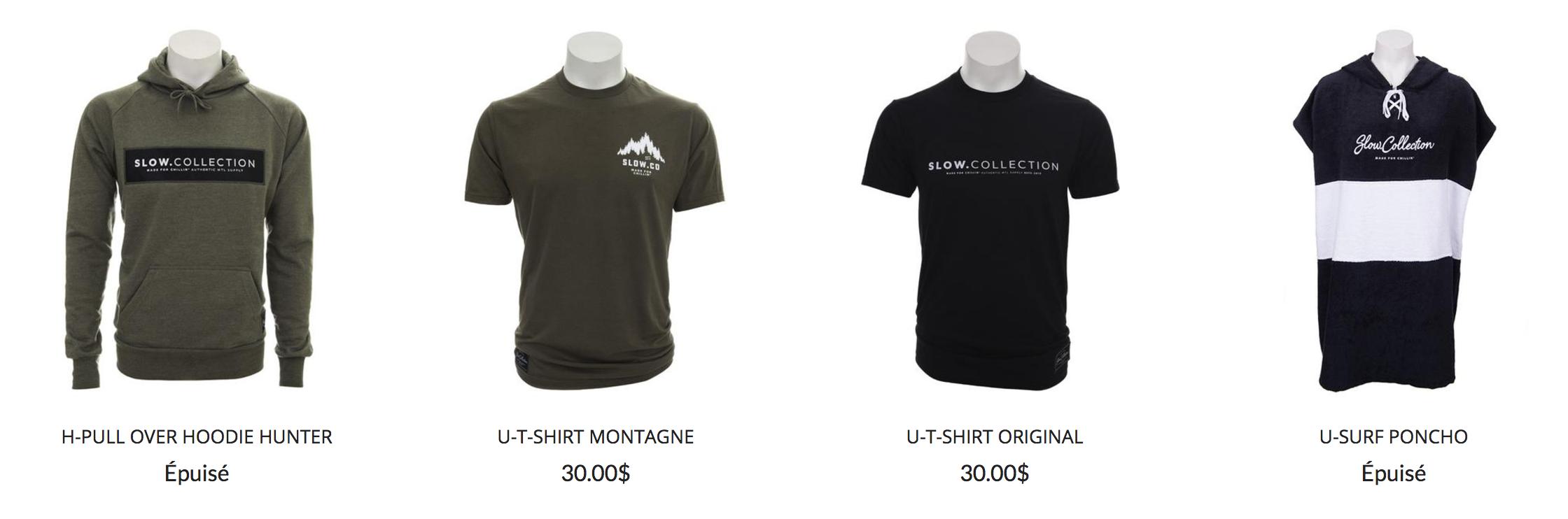 t-shirt-slow-collection-couelur-vert-rouge-bleu-