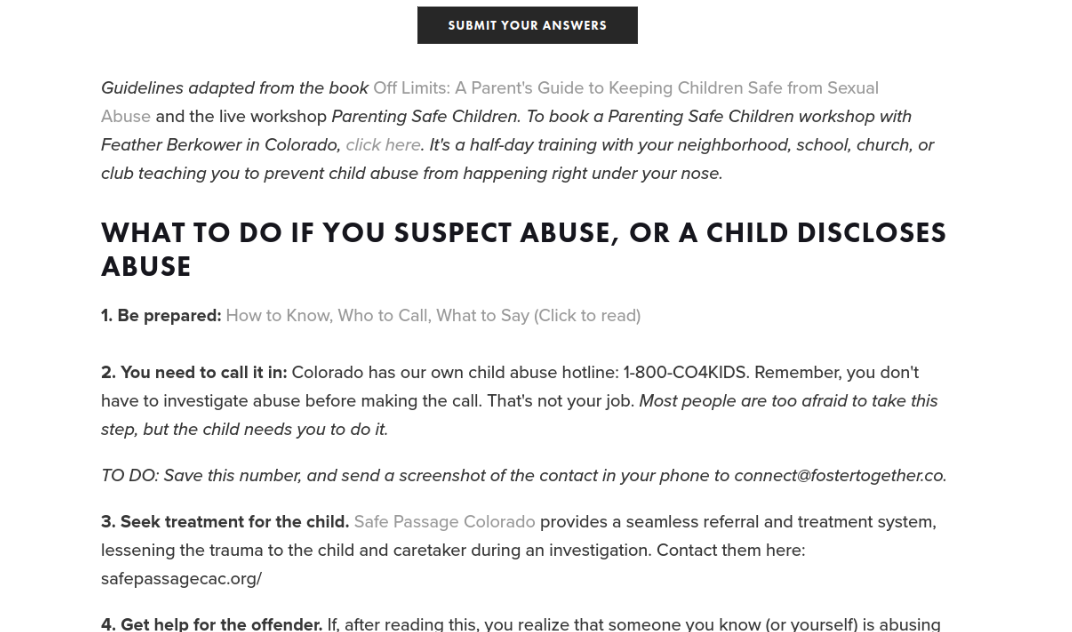Preventing Sexual abuse in foster care