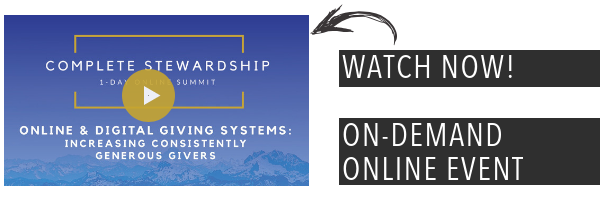 Complete Stewardship video - online and digital giving systems