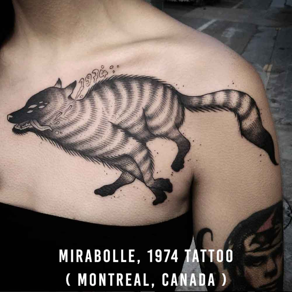 Mirabolle, 1974 Tattoo