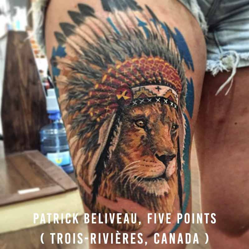 Patrick Beliveau, Tatouage Five Points
