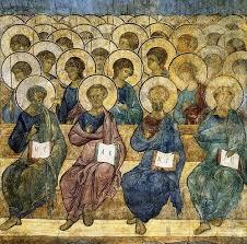 Het Laatste oordeel -.And.Roublov      Apostelen en Engelen