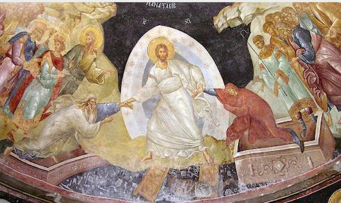 Anastasis fresco in the Church of the Holy Saviour in Chora