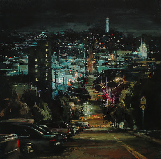 Night View of Coit Tower