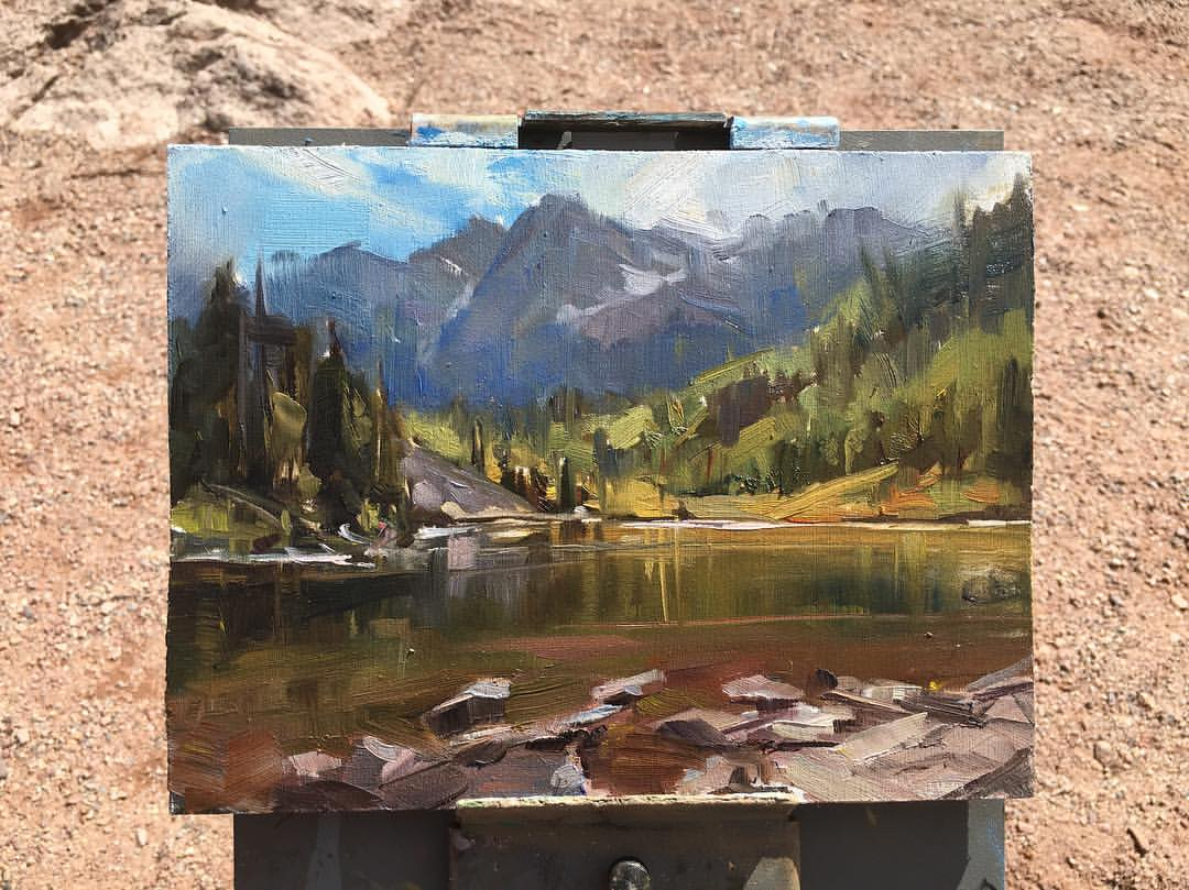 Maroon Bells (Plein Air)