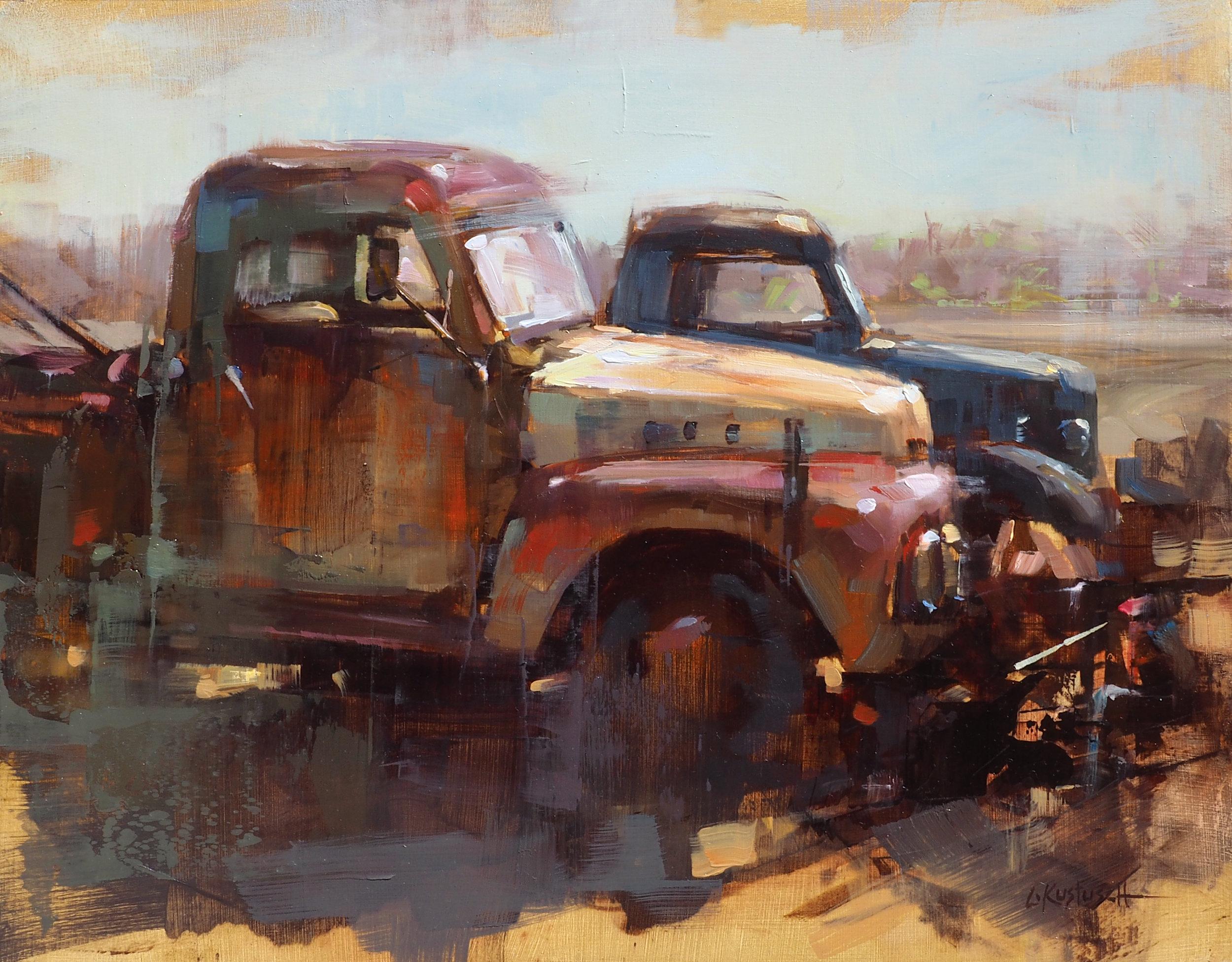 Morning Light on the Old Trucks