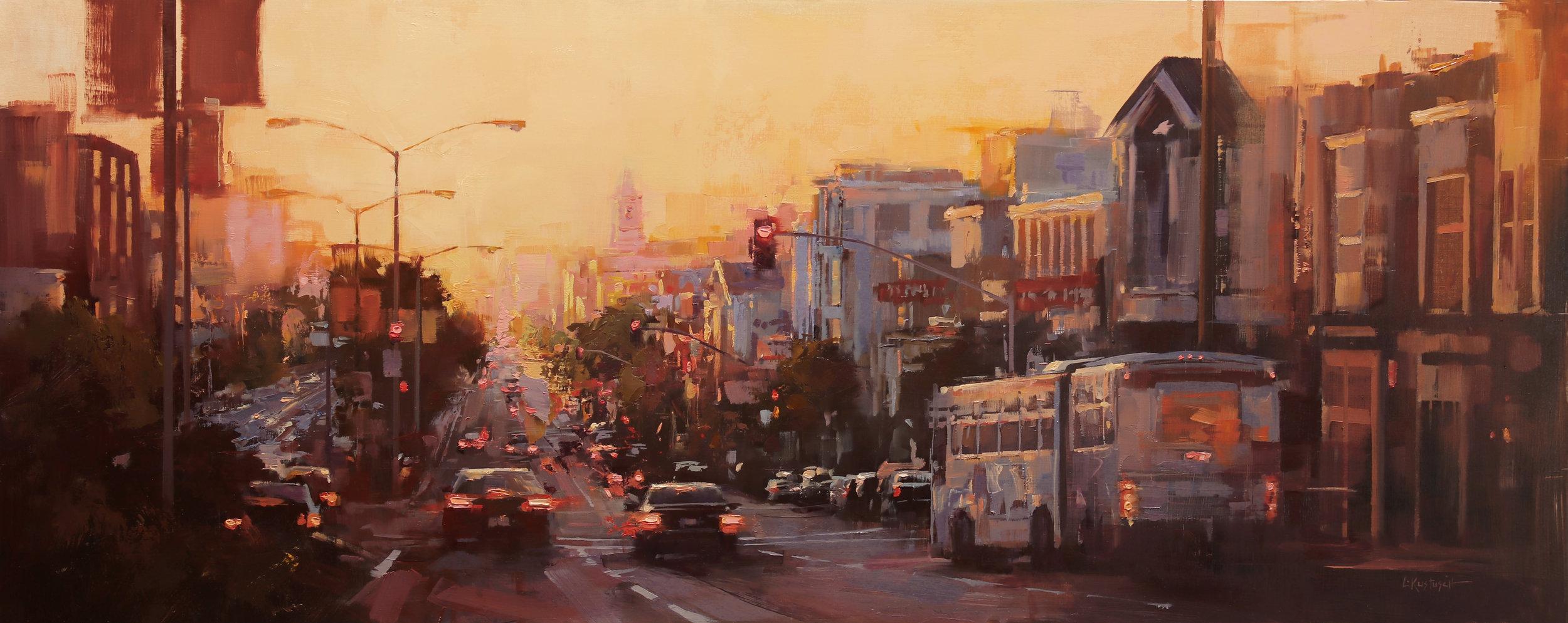 Lindsey Kustusch_%22Heading West at Last Light%22_14x35_oil on panel_$4,200.jpg