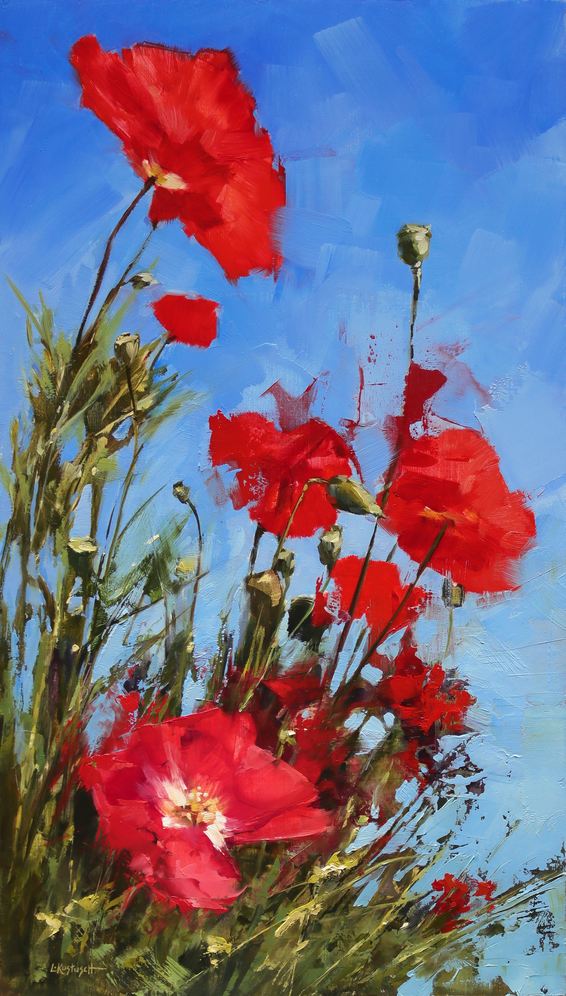 Lindsey Kustusch_%22Roadside Poppies%22_21%22x12%22_oil on panel_$2,800.jpg