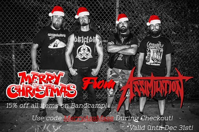 Season's greetings friends and foes! Spread some holiday cheer throughout your household with some shiny new merch! Teach your children the Laws Of Power today! Just use the code MerryAssMass during the checkout on our bandcamp! Merry Ass-Mass!  https://assimilationvancouver.bandcamp.com/  #christmas #sale #15percentoff #achristmasmiracle