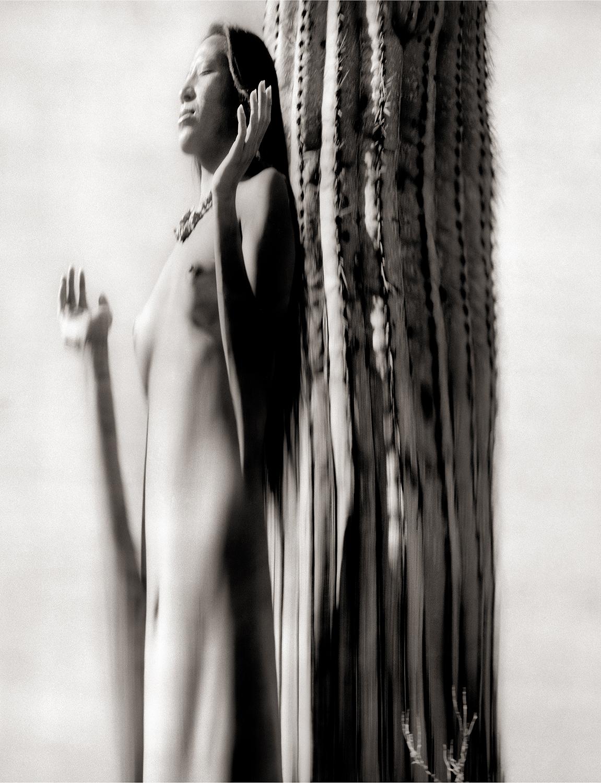 Desert  Prayer, Navajo Woman