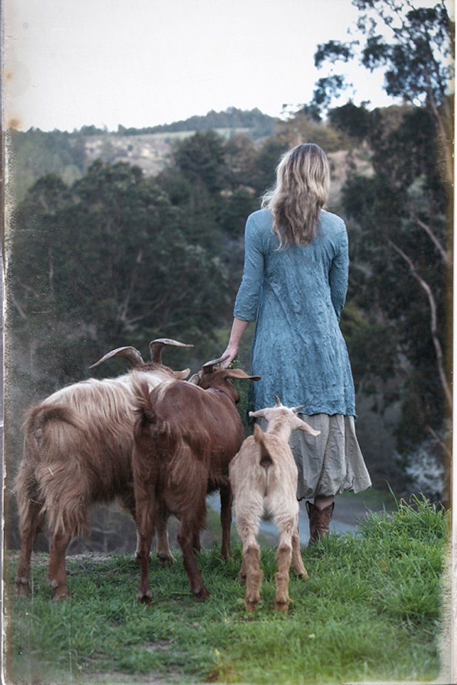 Copy of Alison and Goats