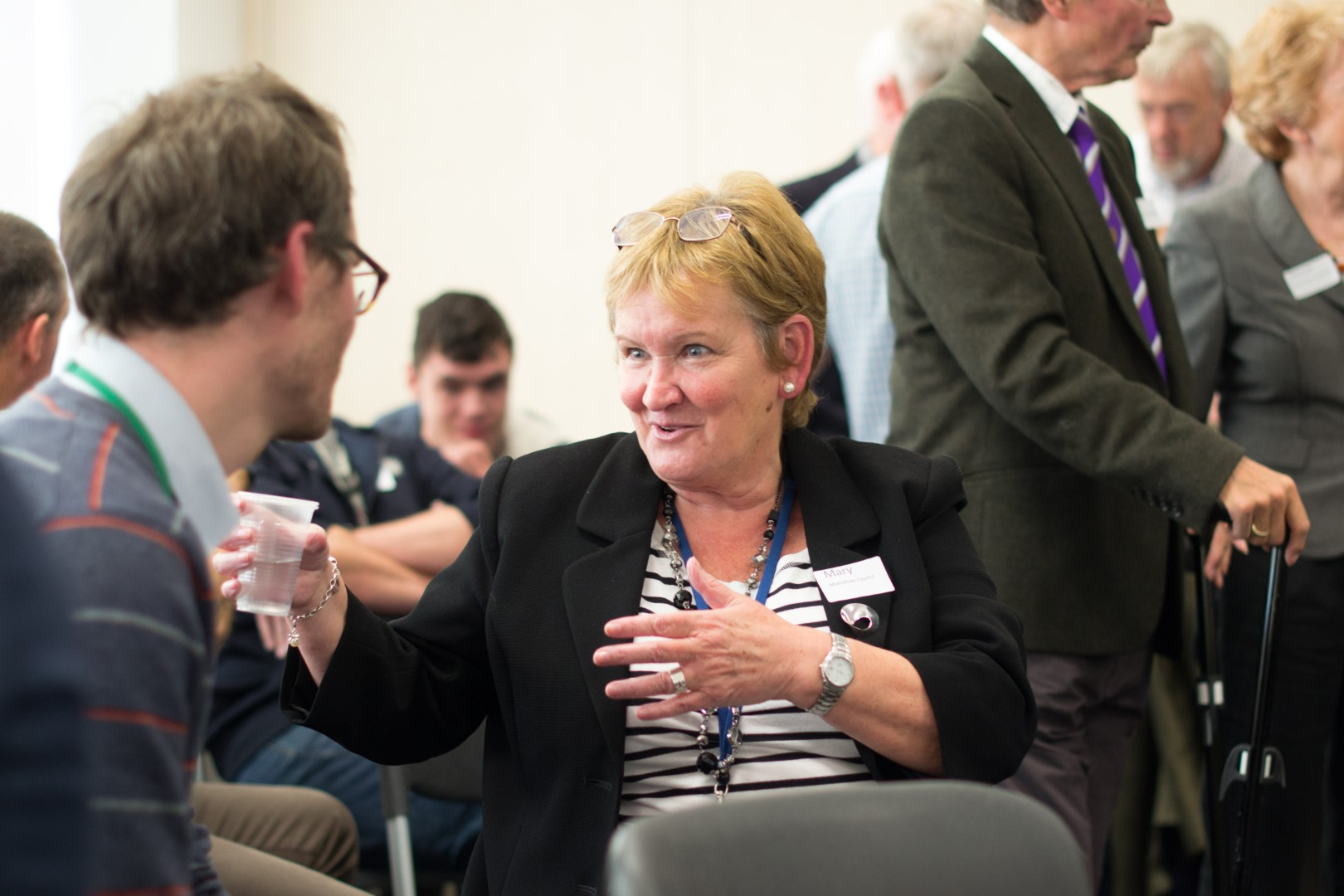Dr Mary Smith, Midlothian Council's Director of Education and Communities, is suitably enthused!