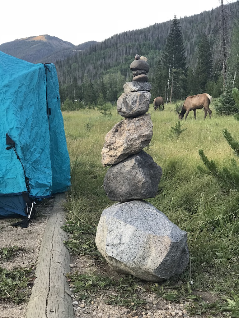 Our Camp at Rocky Mountain National Park.