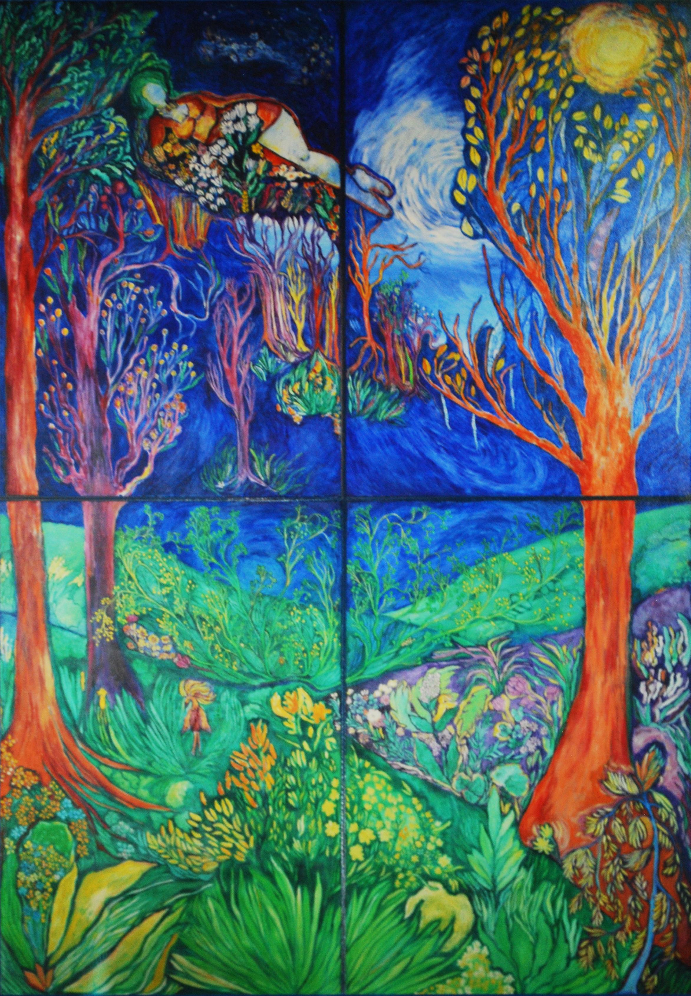 8' x 12' - Acrylic on canvas