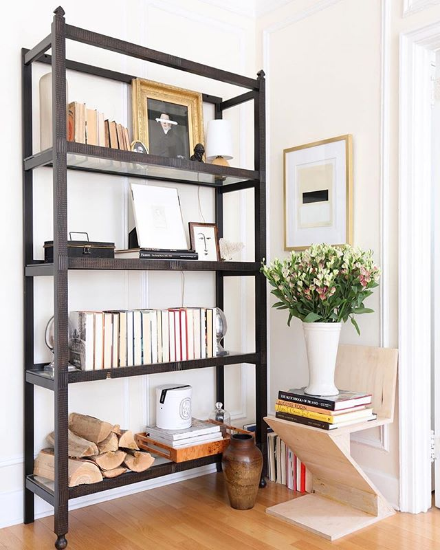 Our Chloé Etagere sitting pretty in the home of @jyoungdesignhouse ✨ We love the way it pairs with his beautiful art. Head to AveHome.com now through July 15th to shop our Summer Sale and receive 25% off sitewide.