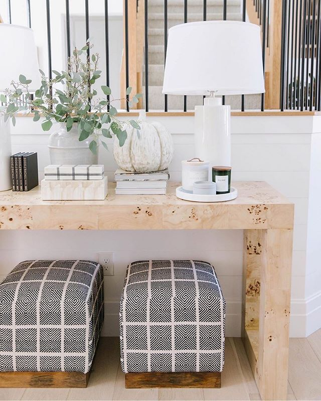 A beautiful shot of our Chloé Burl Console by @designlovesdetail ✨💛 We have a limited number of these in stock! Tap to shop.